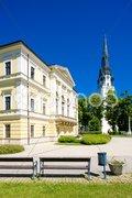 Town Hall Square, Spisska Nova Ves, Slovakia Stock Photos