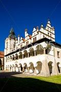 Former town hall, Square of Master Paul, Levoca, Slovakia Stock Photos