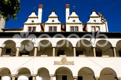 Former town hall, Square of Master Paul, Levoca, Slovakia Stock Photos