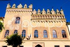 Square of Master Paul, Levoca, Slovakia Stock Photos