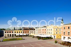 Main Square (Rynek Wielki), Zamosc, Poland Stock Photos