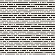 Vector Seamless Black and White Irregular Rounded Dash Lines Pattern Stock Illustration