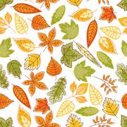 Autumn leaves seamless pattern for nature design Stock Illustration