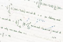 Mathematical equations Stock Photos
