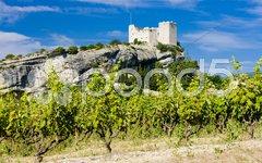 Ruins of castle, Vaison-la-Romaine, Provence, France Stock Photos