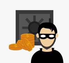 Hacker in laptop system security design Stock Illustration