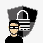 Hacker system security design Stock Illustration