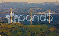 Millau Viaduct, Aveyron D Stock Photos