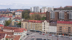 View from Skansen Kronan in Gothenburg, Sweden. 4K timelapse Stock Footage