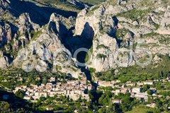 Moustiers Sainte Marie, Alpes-de-Haute-Provence Departement, France Stock Photos