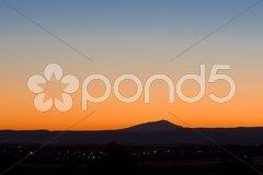 Dusk, Alpes-de-Haute-Provence Departement, France Stock Photos