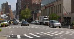Busy New York City street traffic Stock Footage