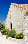 Church, Aiguines, Var Departement, Provence, France Stock Photos
