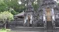 4k Monumental bat temple entry portal Goa Lawah Bali panning shot 4k or 4k+ Resolution