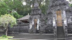 4k Monumental bat temple entry portal Goa Lawah Bali panning shot Arkistovideo