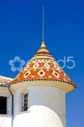Chateau''s detail in Aiguines, Var Departement, Provence, France Stock Photos