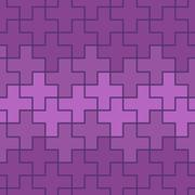 Seamlessly repeatable abstract geometric pattern, background. Editable vector Stock Illustration
