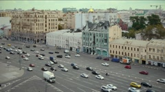 View of the traffic on the Garden Ring in Moscow Stock Footage