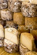 Cheese, street market in Castellane, Provence, France Stock Photos