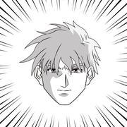 Anime boy cartoon design Stock Illustration