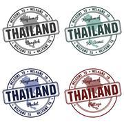 Stamp with Thailand map made in phuket samui bangkok Piirros