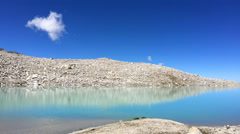 White clouds disappear over the lake Stock Footage