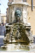 Fountain, Aix-en-Provence, Provence, France Stock Photos