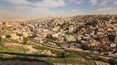 Amman Jordan Citadel Site Time Lapse Stock Footage