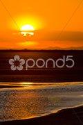 Sunset, Parc Regional de Camargue, Provence, France Stock Photos