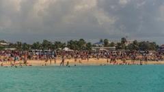 Beach Time Lapse Saint Martin Stock Footage