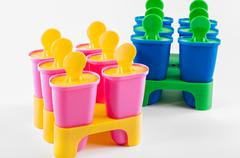Popsicle cups Stock Photos