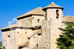 Church in Alquezar, Huesca Province, Aragon, Spain Stock Photos
