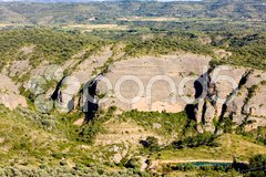 Landscape near Alquezar, Huesca Province, Aragon, Spain Stock Photos