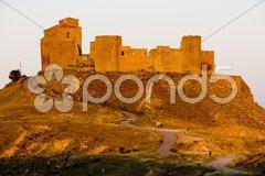 Montearagon Castle, Huesca Province, Aragon, Spain Stock Photos