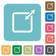Flat adjust item size proportionally icons Stock Illustration