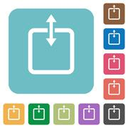 Flat adjust item height icons Stock Illustration