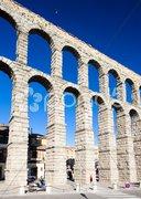 Roman aqueduct, Segovia, Castile and Leon, Spain Stock Photos