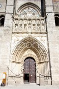 Gothic cathedral, Avila, Castile and Leon, Spain Stock Photos