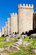 Fortification of Avila, Castile and Leon, Spain Stock Photos