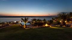 Dead Sea Time Lapse Resort Stock Footage