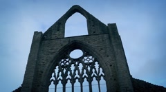 Moving Past Abbey Ruins Stock Footage