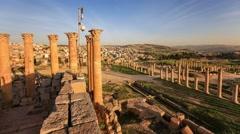 Jerash Jordan Ruins Time Lapse Stock Footage