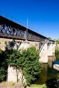 Railway viaduct near border of Portugal, Castile and Leon, Spain Stock Photos
