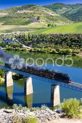 Steam train in Douro Valley, Portugal Stock Photos