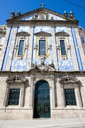 Church with azulejos (tiles), Porto, Douro Province, Portugal Stock Photos