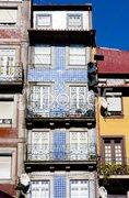 House with azulejos (tiles), Porto, Douro Province, Portugal Stock Photos