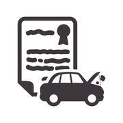 Car insurance document design Stock Illustration
