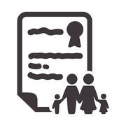 Family insurance document design Stock Illustration