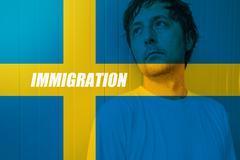 Swedish immigration concept Stock Photos