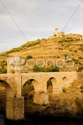 Roman bridge, Alcantara, Caceres Province, Extremadura, Spain Stock Photos